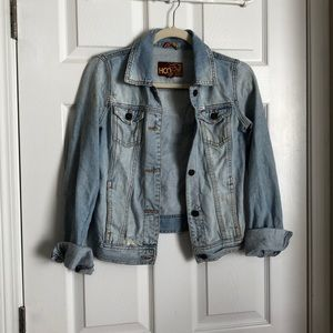 Hollister Co distressed denim jacket